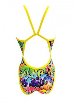 Costume turbo donna intero Graffiti front